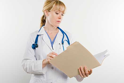 Doctor with medical file - topical tretmants